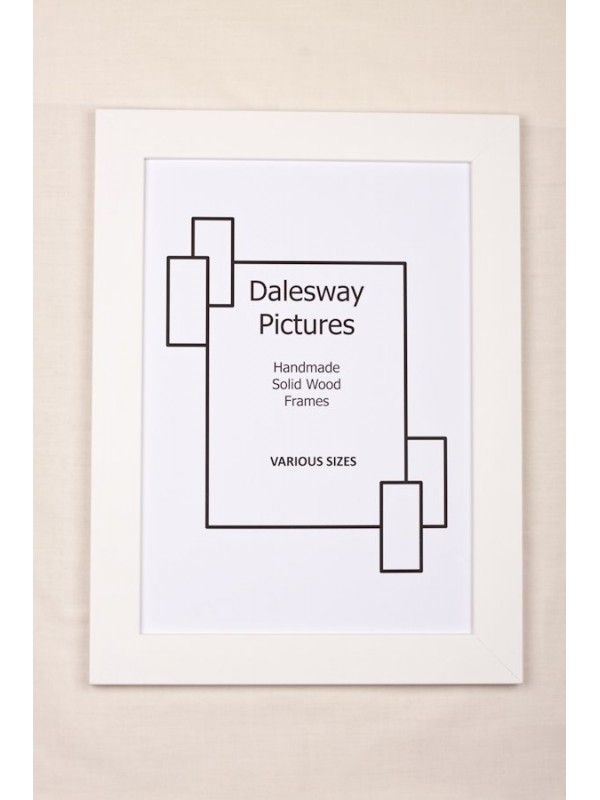 Flat White Solid Wood (30mm wide x 12mm deep) - Dalesway Picture ...