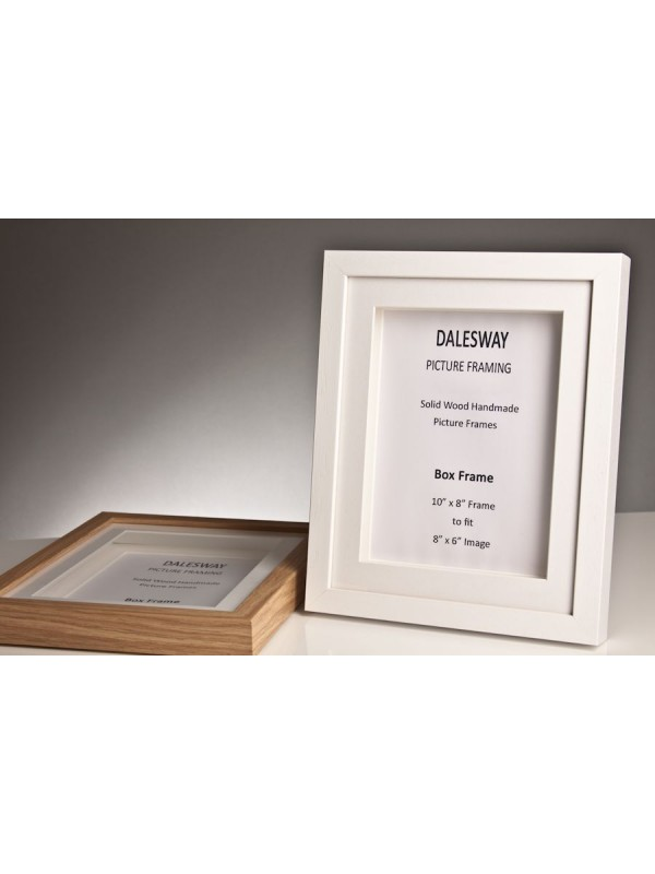White Stained Wood Box Frame 20 mm x 35 mm Deep Including 2 white ...