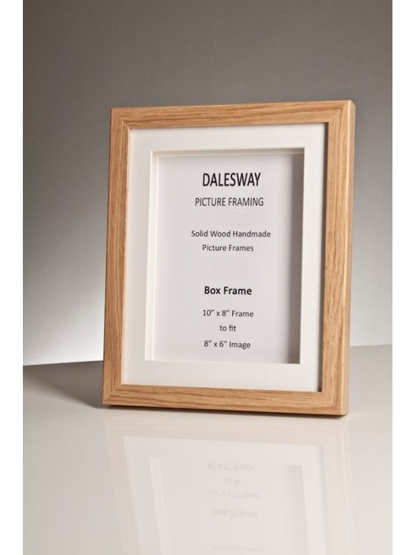 Oak Box Frame 20 Mm X 35 Mm Deep Including 2 White Mounts Dalesway